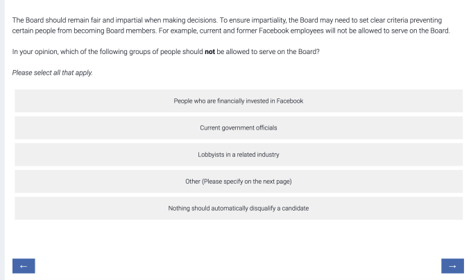 Facebook asks for public input about its plans for a content