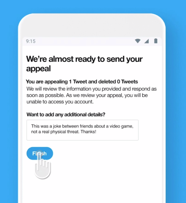 Twitter now lets users appeal violations within its app | TechCrunch