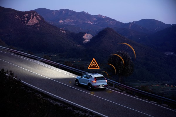Volvo cars in Europe will be able to warn each other about hazardous road conditions