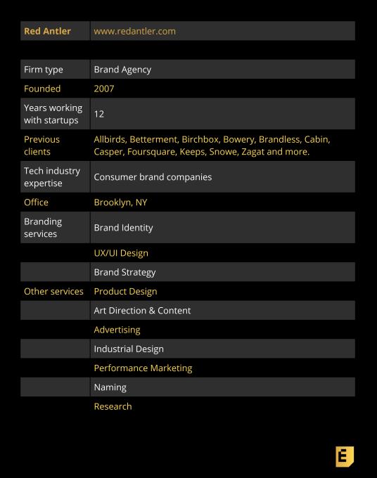 Verified Expert Brand Designer: Red Antler | TechCrunch