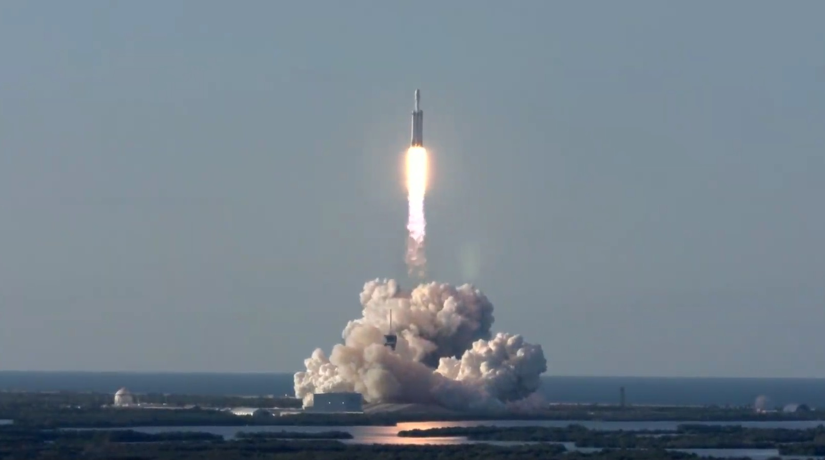 Trifecta! SpaceX launches first mission on Falcon Heavy and lands all three boosters		 		 	Devin Coldewey  			@techcrunch	  		8 months