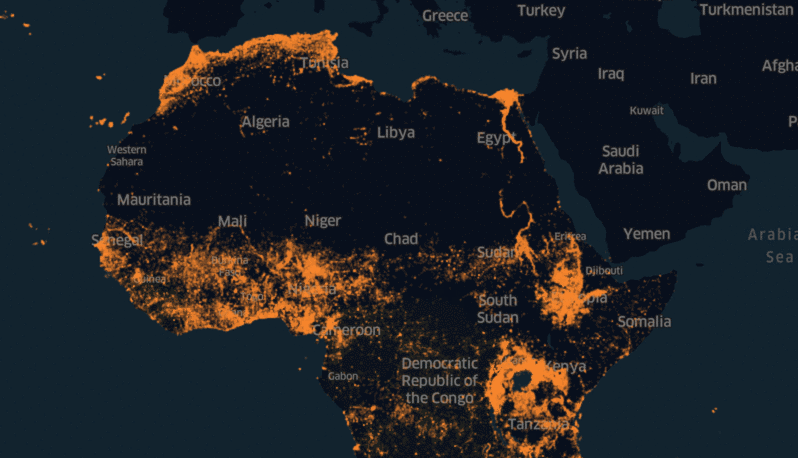 Map Of Africa Land Features.Facebook S Ai Team Maps The Whole Population Of Africa Techcrunch