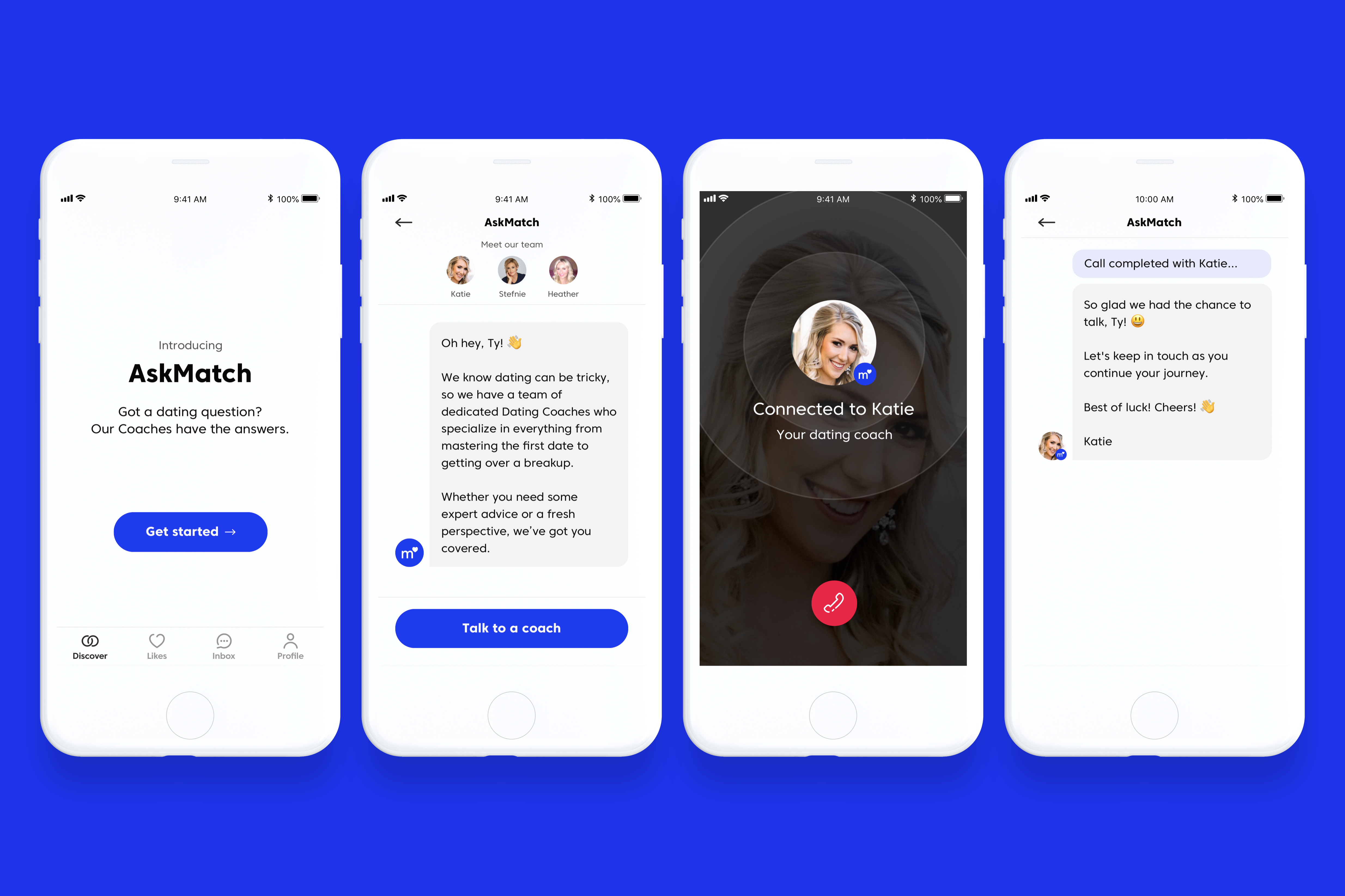 Mobile coach chatbot
