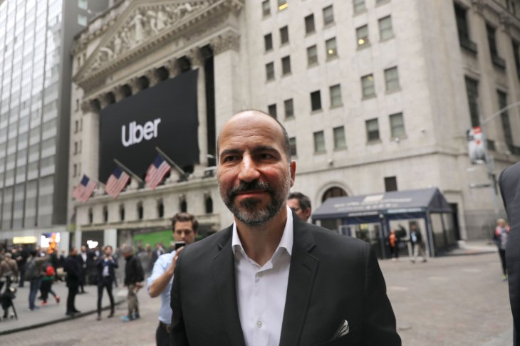 Uber Begins First Day Of Trading At New York Stock Exchange