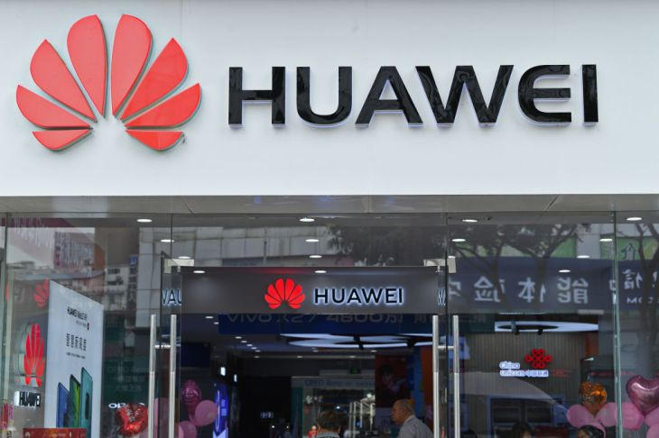 A Huawei store front in Nanning, China