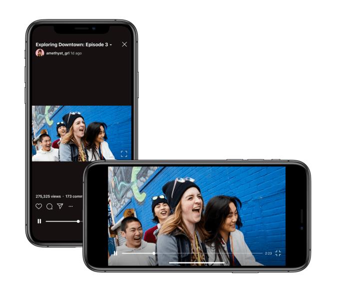 Instagram's vertical IGTV surrenders to landscape status quo