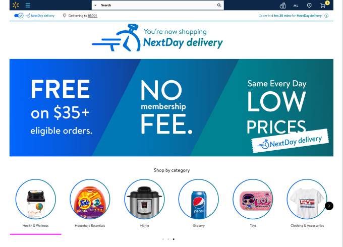 Walmart announces next-day delivery on 200K+ items in select