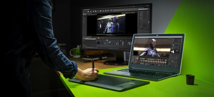One of Nvidia's new studio laptops is expected to compete with the MacBook Pro.
