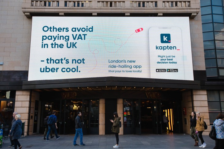 Daimler And Bmw Backed Kapten Rides Into London With Anti Uber Ad