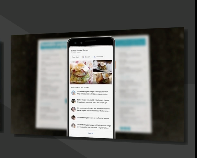 Snap a photo of a menu and Google Lens can tell you what to order