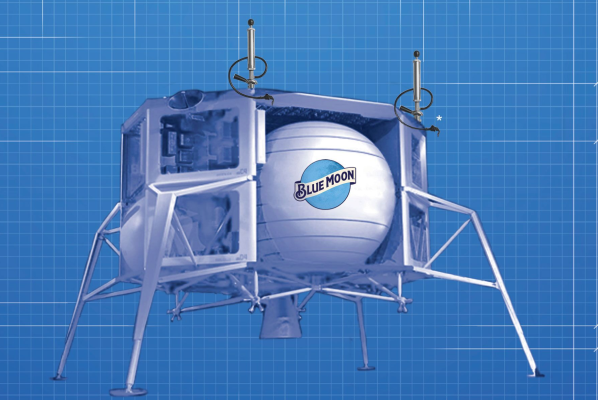 Blue Moon Brewing is capitalizing on Bezos' news with a lunar lander keg
