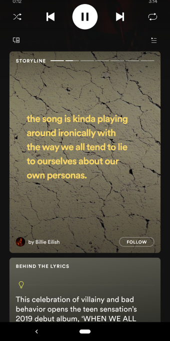 Spotify is testing its own version of Stories called