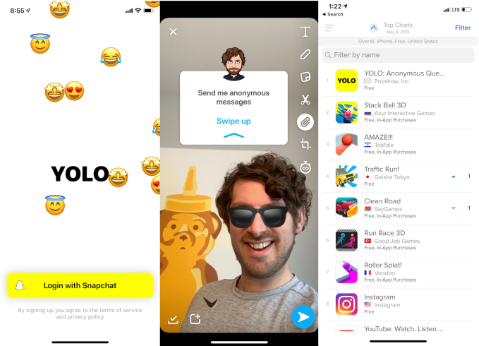 1 App Yolo Q A Is The Snapchat Platform S 1st Hit Techcrunch