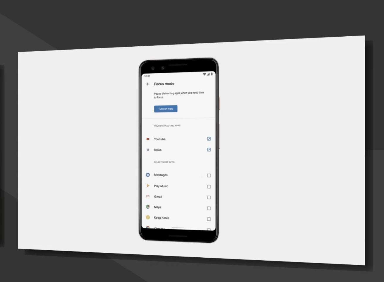 google I/O 2019 focus app