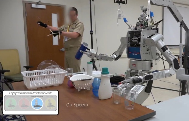 This robot learns its two-handed moves from human dexterity