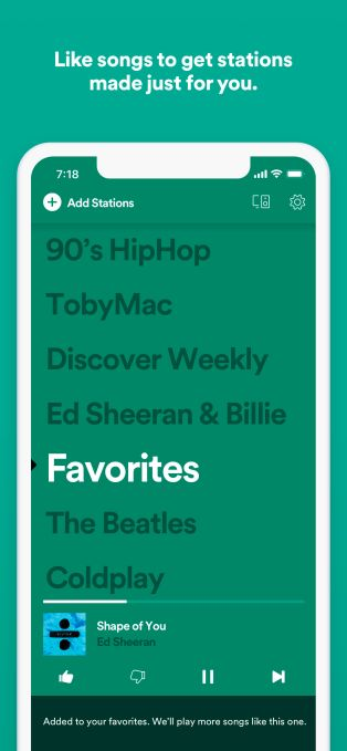 Spotify's leanback instant listening app Stations hits iOS