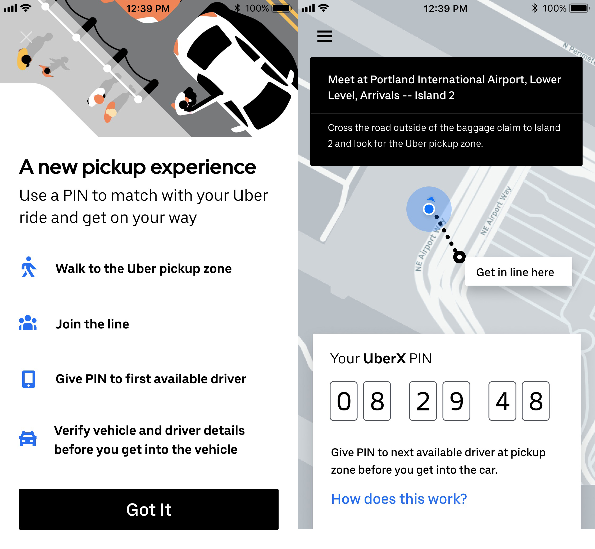 Uber Portland Oregon >> Uber Launches Pin Feature To Cut Wait Times At Us Airports