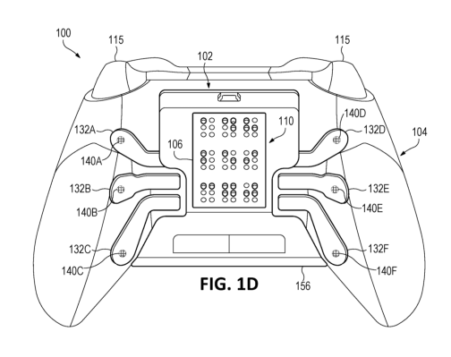 An Xbox controller with a built-in braille display is