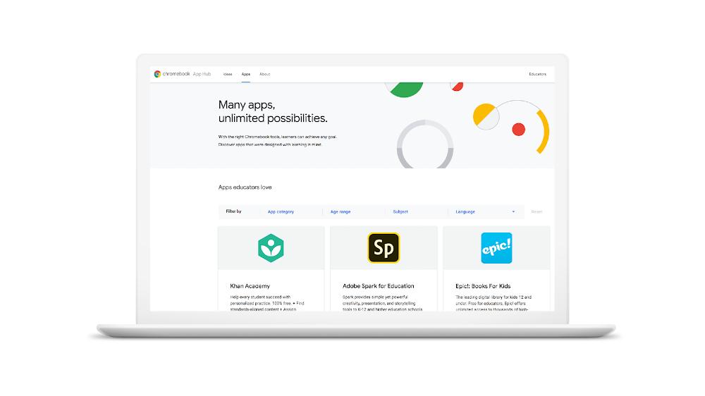 Google launches Chromebook App Hub for educators plus other