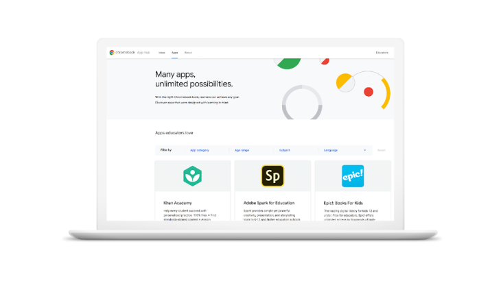 Google launches Chromebook App Hub for educators plus other