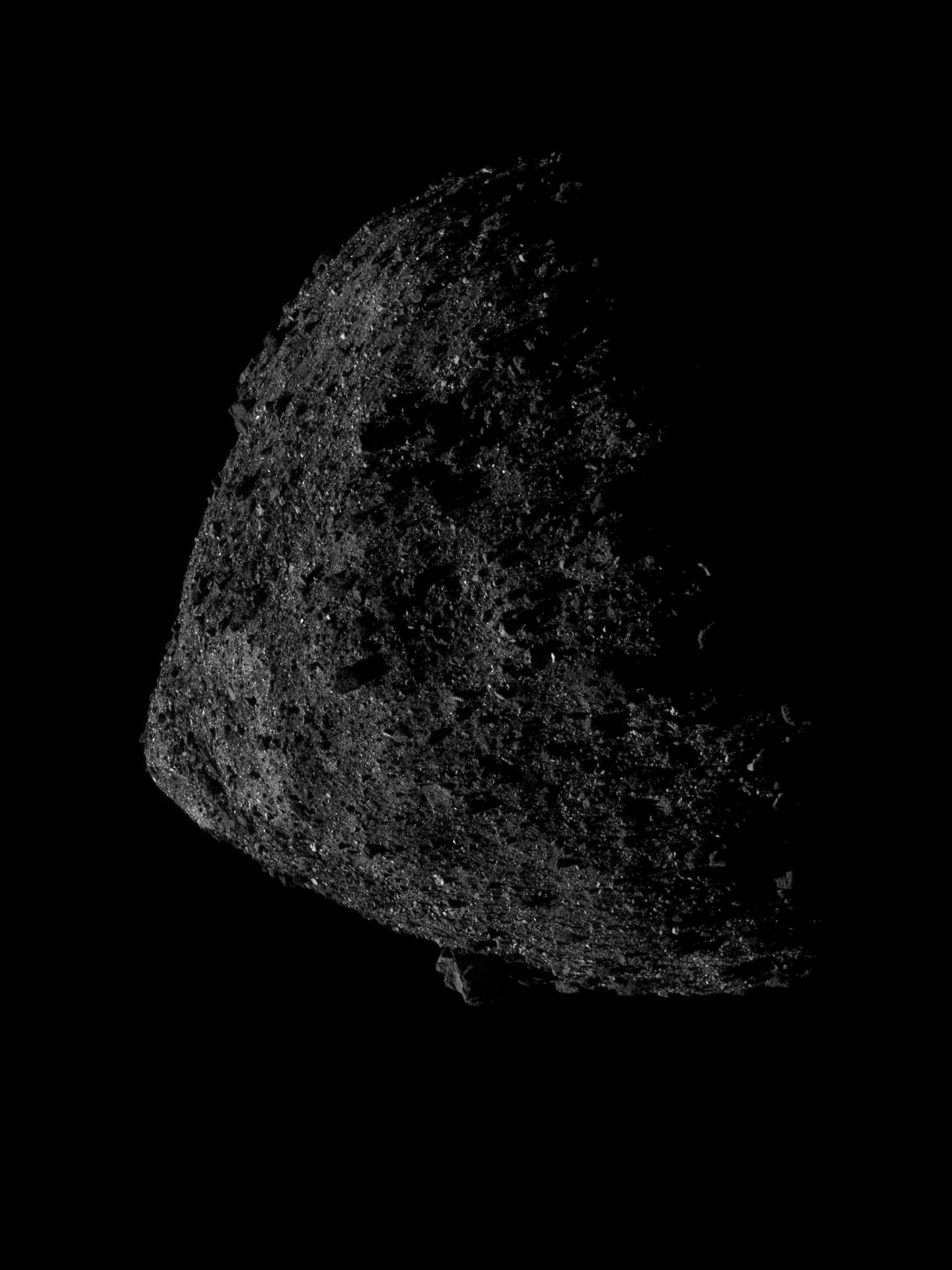NASA's best-yet photo of asteroid Bennu nails the dramatic lighting