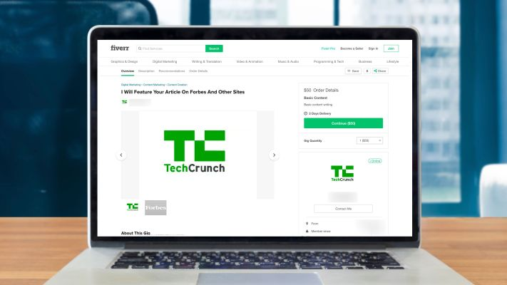 QnA VBage No, I'm not selling TechCrunch stories for $20 on Fiverr