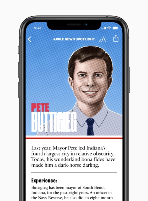 Apple News candidate guide Pete Buttigieg 062619