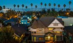 Houses and Palm Trees near San Jose California downtown district