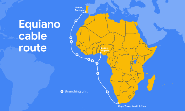 Map Of Portugal And Africa Google is building a new private subsea cable between Portugal and
