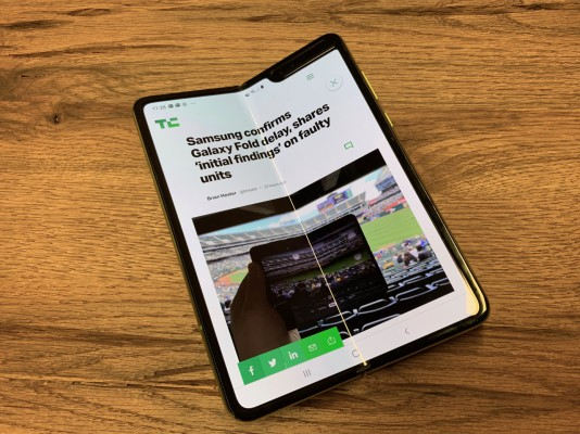 Galaxy Fold launch date will be announced in 'coming weeks' – TechCrunch