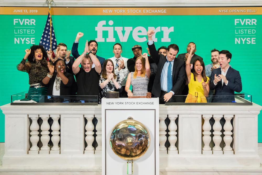 Fiverr shares climb 90% in first day of trading | TechCrunch