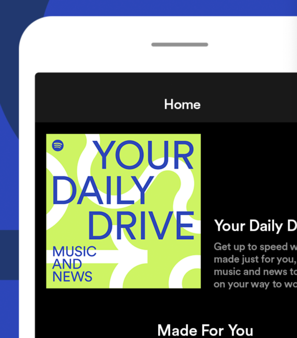 Spotify launches 'Your Daily Drive,' a personalized playlist that combines music and podcasts