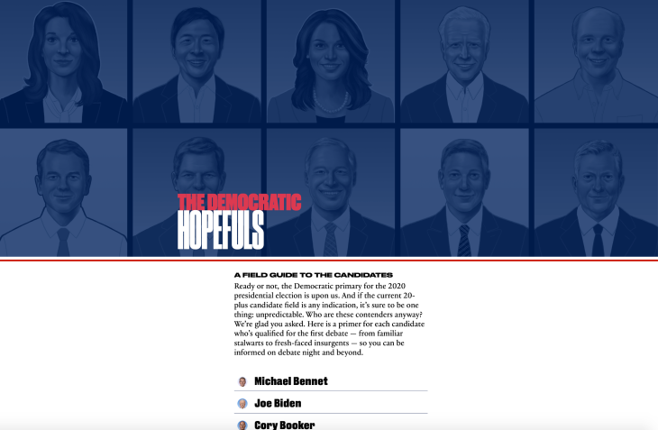 Apple News launches a guide to the 2020 Democratic