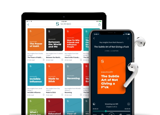 Techmeme: Subscription e-book and audiobook service Scribd