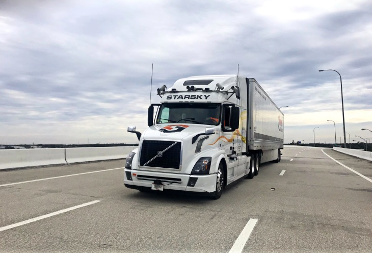 On the road to self-driving trucks, Starsky Robotics built a