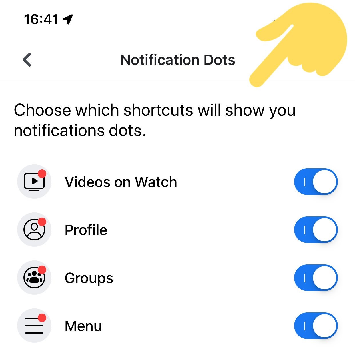 Turn Off Facebook Notification Dots