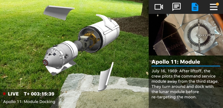 การเปิดตัว Apollo 11 อันเก่าแก่ของ NASA มาถึงโทรศัพท์ของคุณใน AR thumbnail