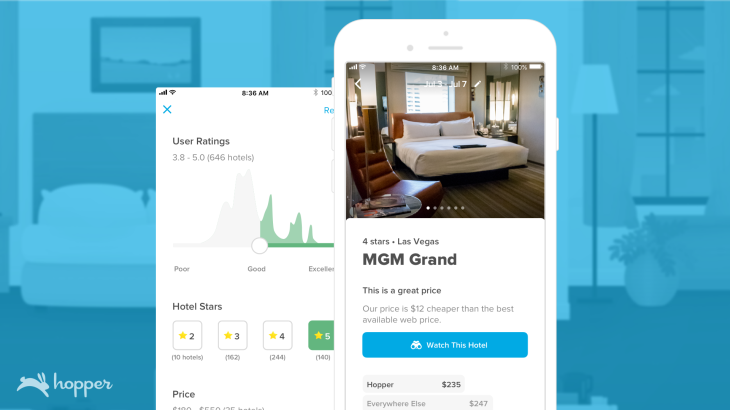 AI-based travel app Hopper expands price monitoring to hotels