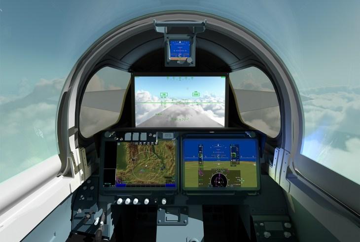 Видимость пилотам обеспечат несколько камер на носу самолета и 4K-монитор