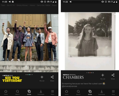 Netflix tests an Instagram Stories-like feed called 'Extras' in its app