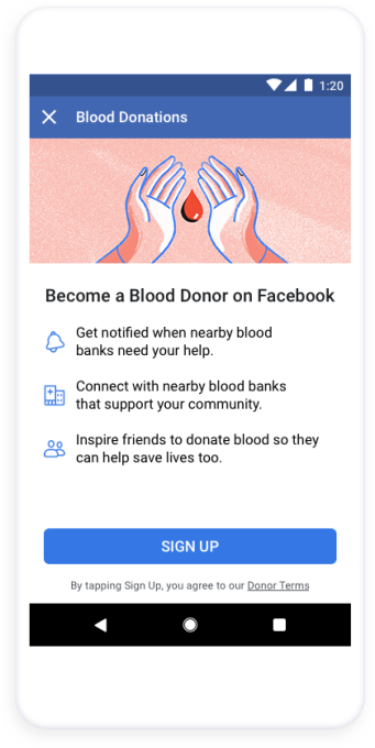 Facebook's Blood Donations feature arrives in US, will alert