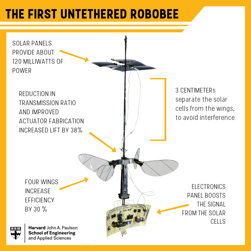 Tiny Robobee X-Wing powers its flight with light