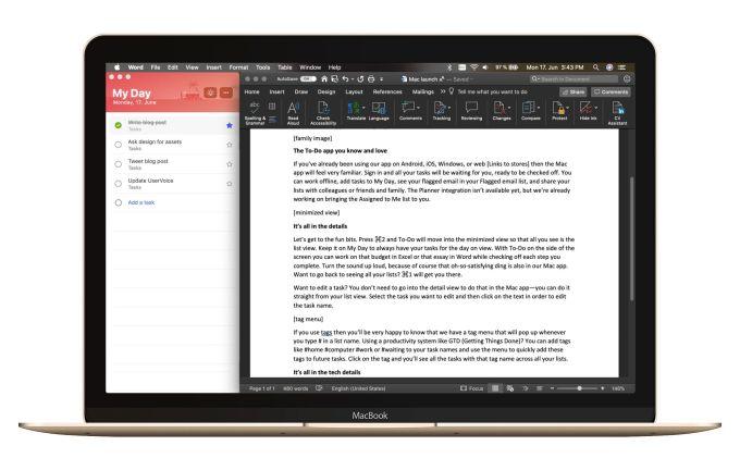 Microsoft brings its To-Do app to Mac | TechCrunch