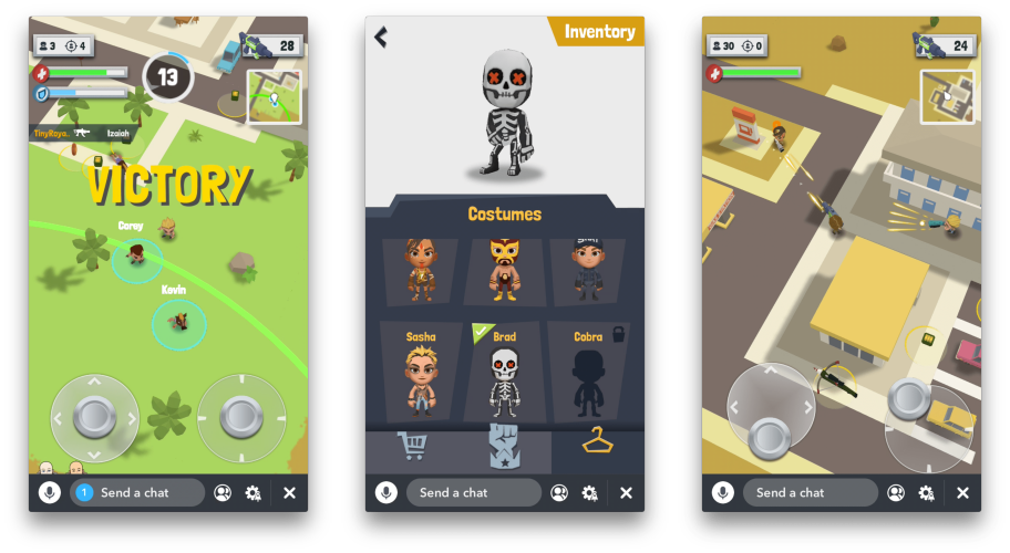 Zynga launches battle royale game as a Snap Games exclusive   TechCrunch