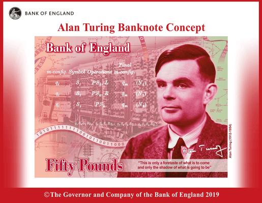 ผู้บุกเบิกการคำนวณและไอคอน LGBT Alan Turing จะทำให้โน้ต 50 ปอนด์ในปี 2021 thumbnail