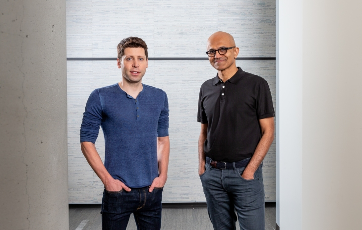 MSFT Nadella OpenAI Altman 09 official joint pic