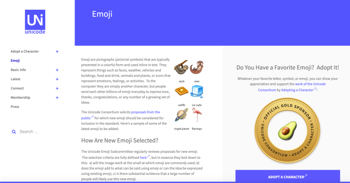 For World Emoji Day, the Unicode Consortium redesigns its site to be