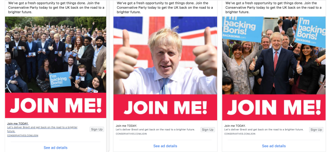 Boris Facebook ads