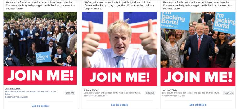 UK watchdog eyeing PM Boris Johnson's Facebook ads data grab