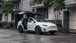 Tesla model X Parked City